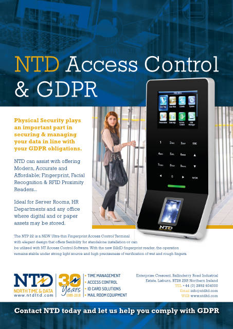 NTP 22 access reader