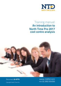 t2-0775 NTD TRAINING Cost Centre Analysis 2017