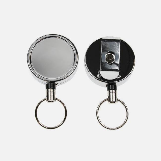Chrome Heavy Duty Reel With Key Ring
