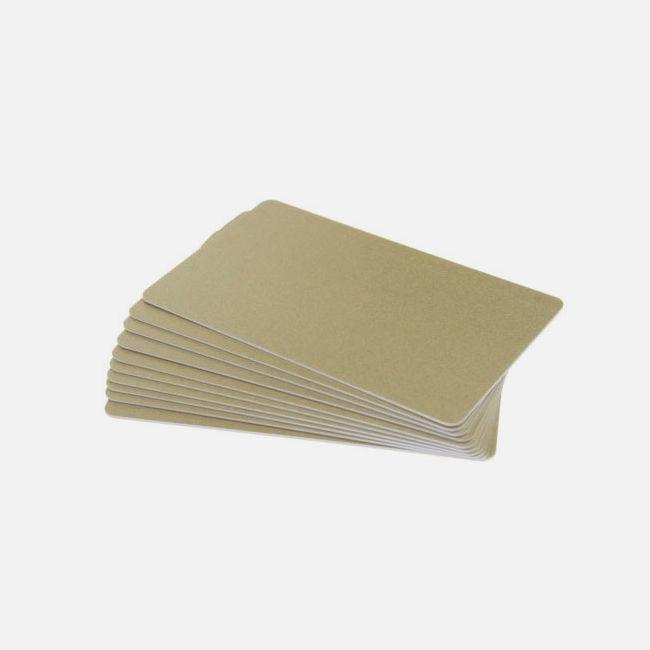 Light Gold Premium 760 Micron Cards