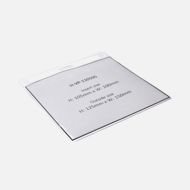 Vinyl Visitor Pass Holder 110 X 105Mm