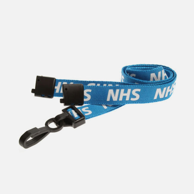 NHS Lanyards With Plastic J-Clip