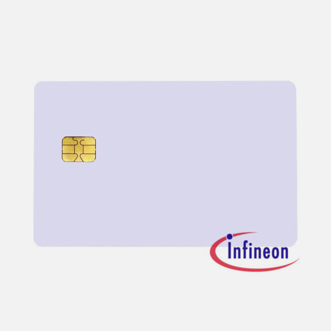 Plain White Pvc Sle 4442 Chip Cards