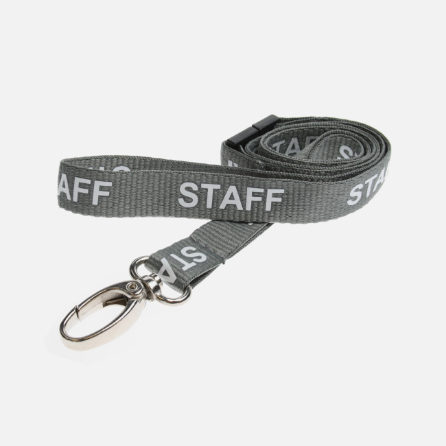 15Mm Staff Lanyards With Metal Clip