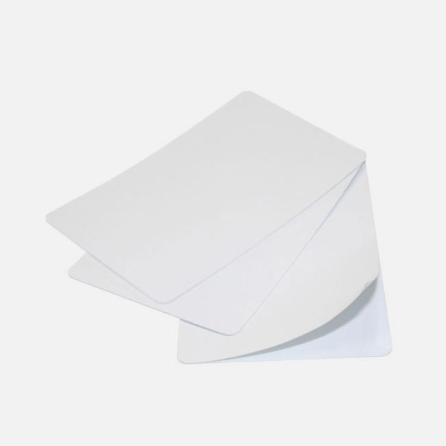 White 400 Micron Self Adhesive Cards