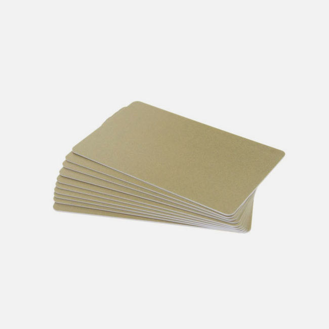 Light Gold Premium 760 Micron Cards