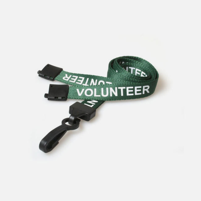 15mm Volunteer Lanyard With Plastic Clip