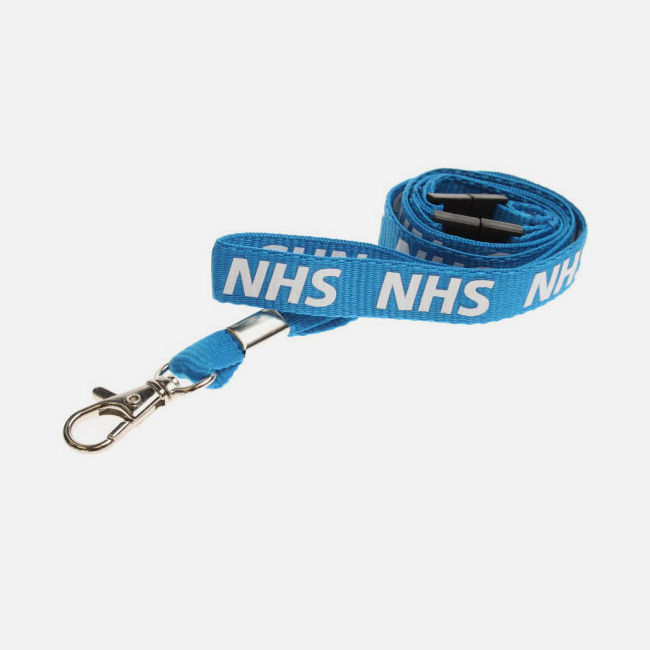 NHS Lanyards With Double Breakaway