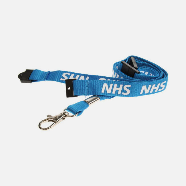 NHS Lanyards With Triple Breakaway