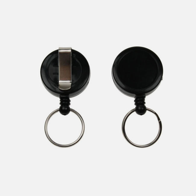 Black Card Reel With Key Ring
