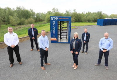 Pictured at the launch of the new turnstile are: (from left) Darron Pressley (NTD), Philip Murdock (Envision), Stephen Brown (NTD), Amanda Campbell (Envision), Glen Murray (Envision) and Mike Wiseman (NTD).