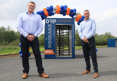 Pictured at the launch of the new turnstile are Envision IS managing director Philip Murdock and NTD managing director Stephen Brown.